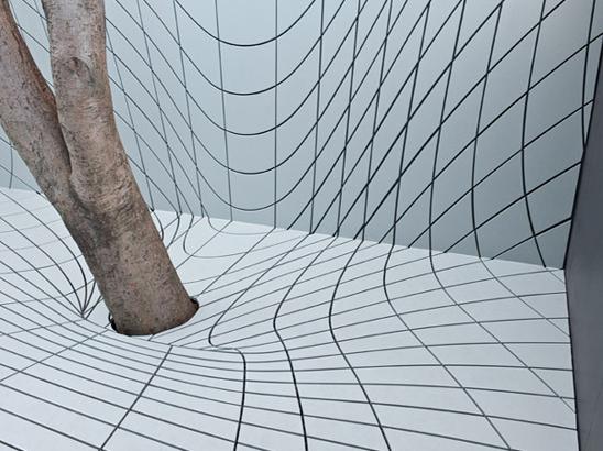 Futuristische tuin bijzonder patroon Faulders studio