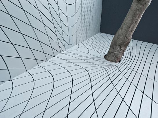 Futuristische tuin optische illusie Faulders Studio
