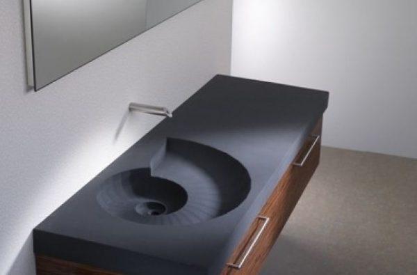 Sculpturele wastafel doet denken aan een beekje gimmii shop magazine voor dutch design - Moderne wastafel ...
