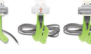 Berg je USB kabels op een speelse manier op
