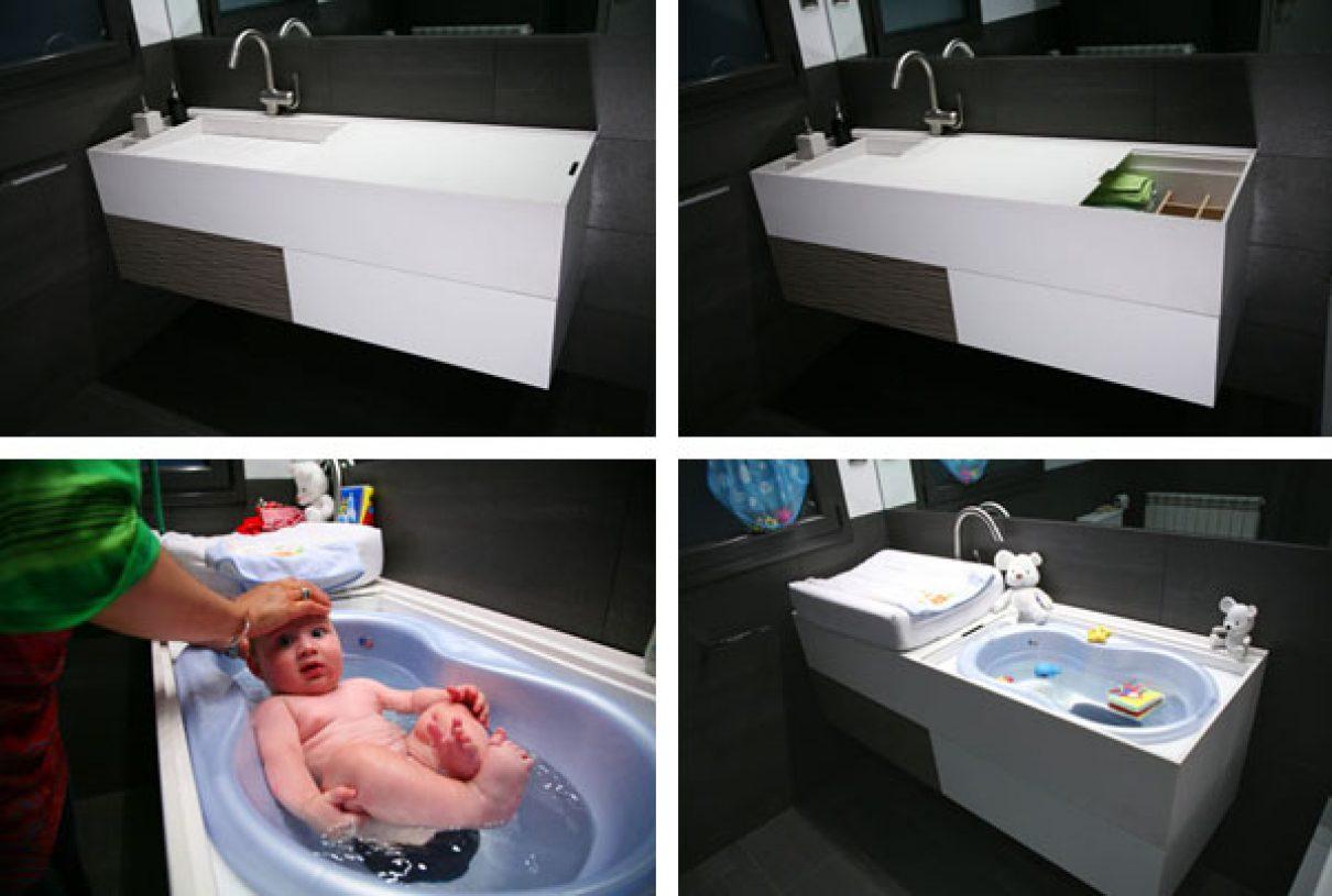 Herms baby slide voor de badkamer