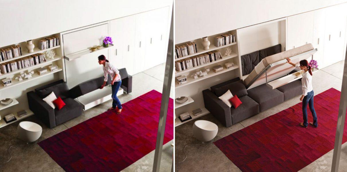 Multifunctioneel meubel voor studio's en studentenkamers