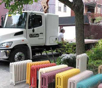 Ecorad recycling van radiatoren alle kleuren