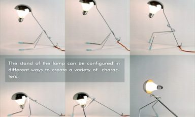 Ondersteboven van de lamp