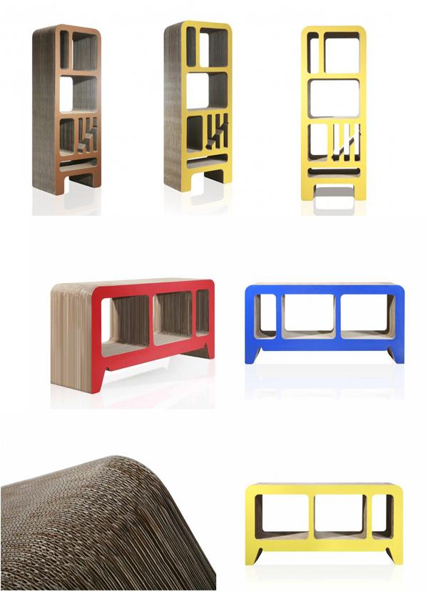 kartonnen meubels Reinhard Dienes