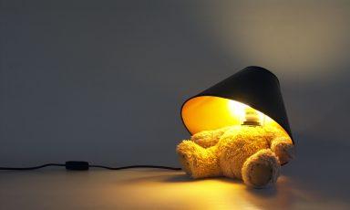 Knuffelige teddybeer lamp