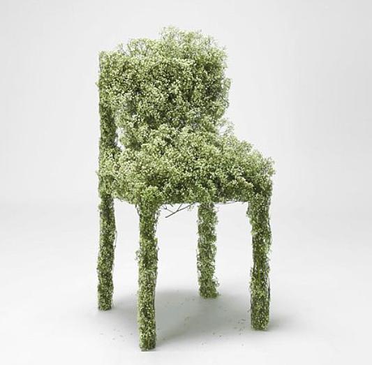 Bloemenstoel Harvest baby´s breath natuur ontwerp kunst
