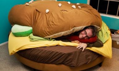 Maak je eigen hamburger bed