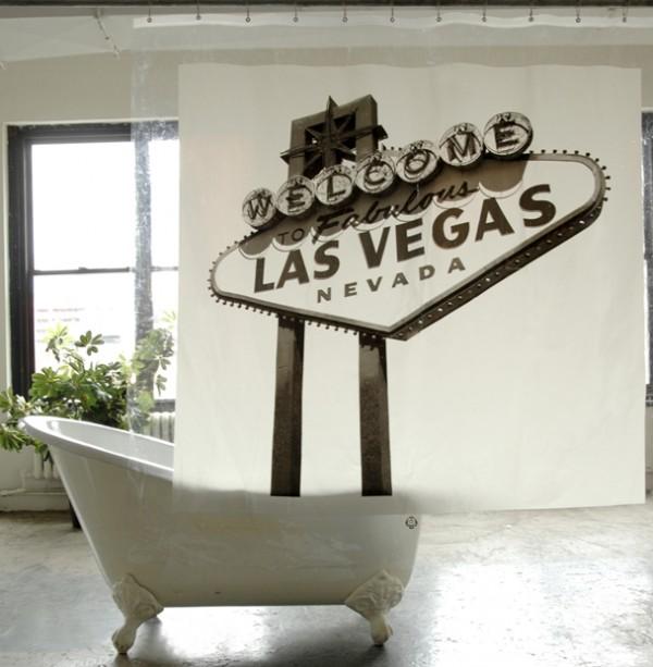 Las Vegas douchegordijn