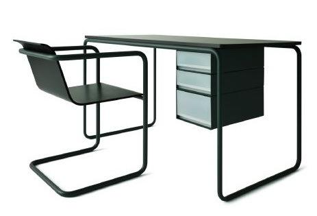 Thonet tubular chair_desk