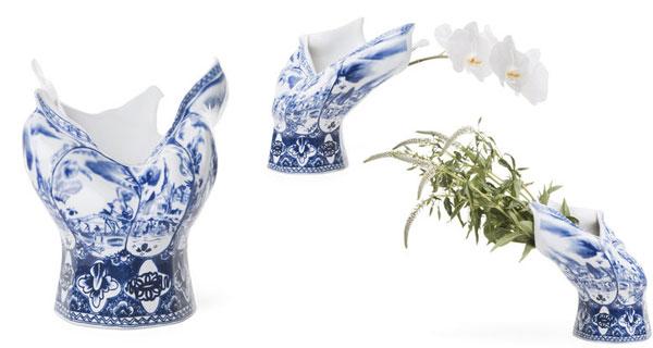 Delftsblauwe vaas voor Moooi