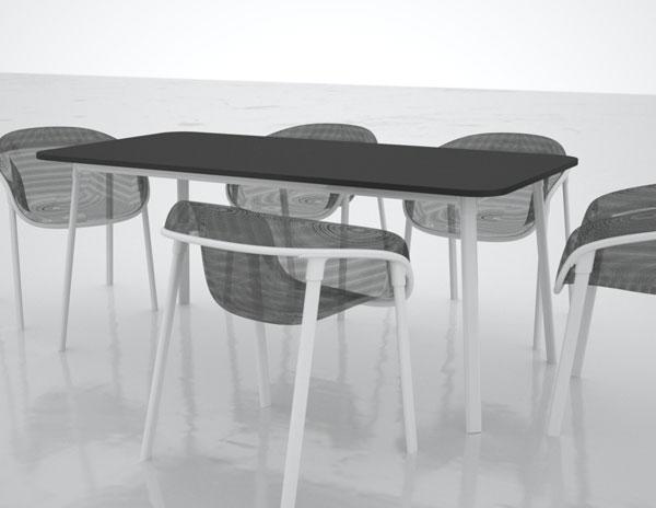 Tom Dixon Mesh stoelen en tafel