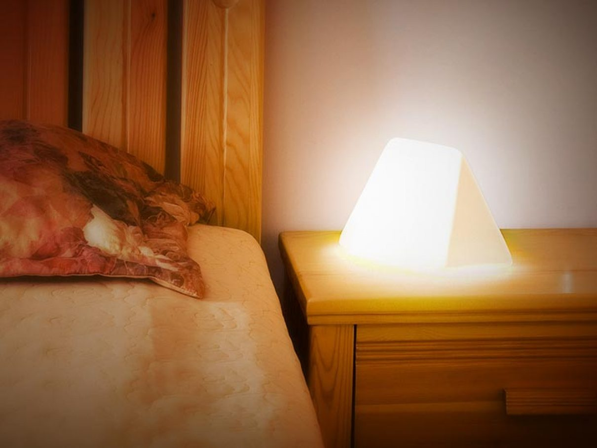 Leeslamp als boekenlegger