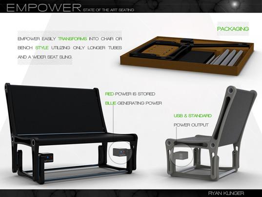 Empower schommelstoel van ontwerper Ryan Klinger
