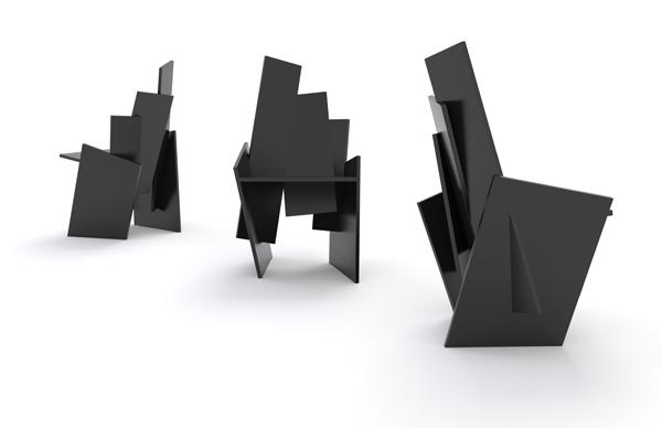 Square-fauteuil van Frederik Roijé
