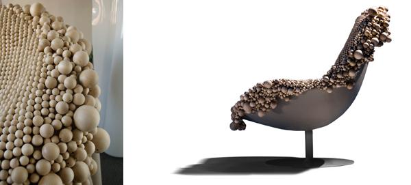 Wood Chair van de Zweedse dames van Front