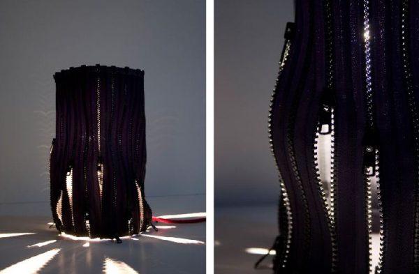 Zipp rits lamp van ontwerpsters Camilla Waldal en Janne Helen Bulling