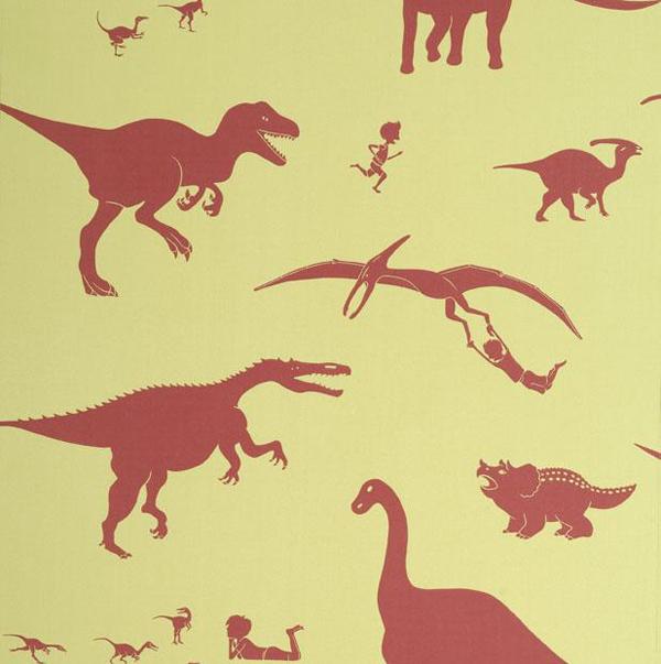 Dinosaurussen behang voor de jongenskamer