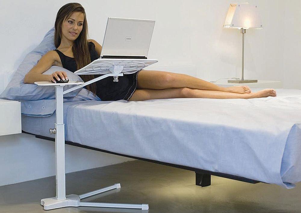 Ergonomisch verantwoord werken vanuit bed gimmii dutch design - Bed tafel ...