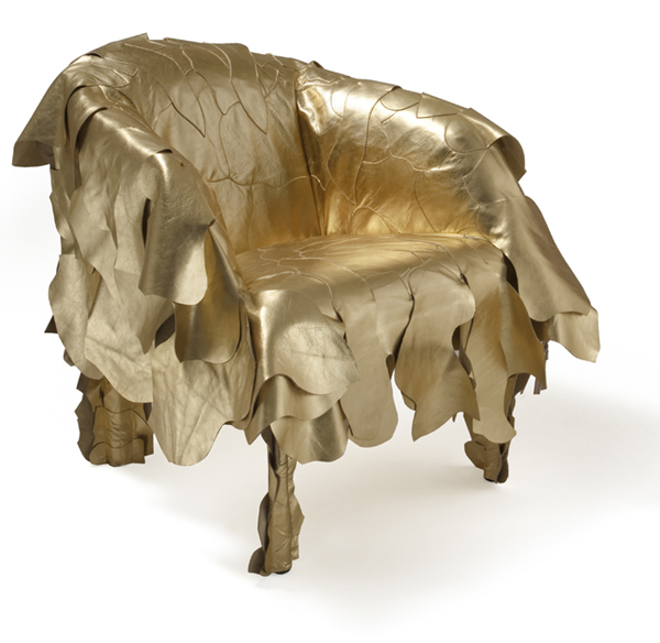 Edra 'lapjes-fauteuil' Leatherworks van de Campana broers