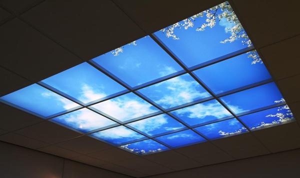 Openceilings systeemplafond met fotopanelen