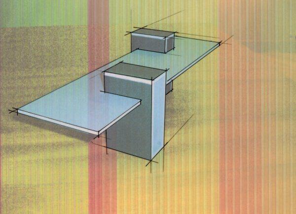 2worktafel van de Nederlandse ontwerper Han Dicke