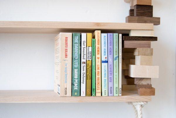 Milieuvriendelijke blockshelf van Amy Hunting