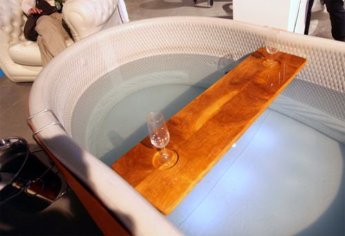 Opblaasbaar bad voor binnen en buiten | Gimmii Dutch Design