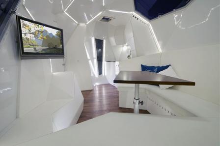 Caravan Mehrzeller woonkamer