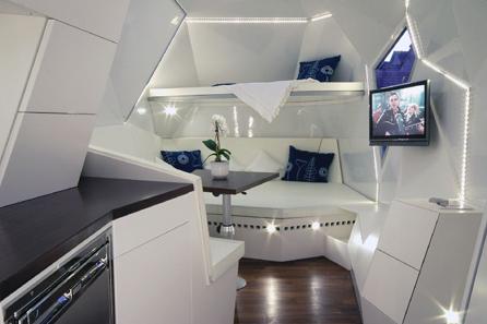 Caravan mehrzeller design interieur woonkamer keuken