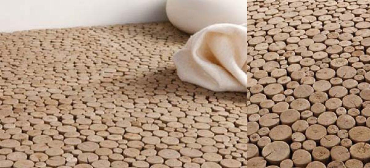 Ecologische drijfhout vloer
