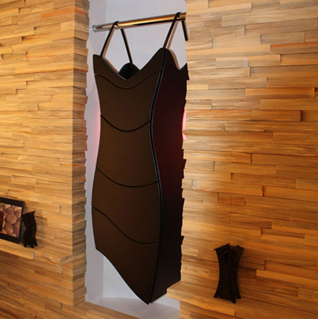 Kast jurk aan stang designer Judson Beaumont