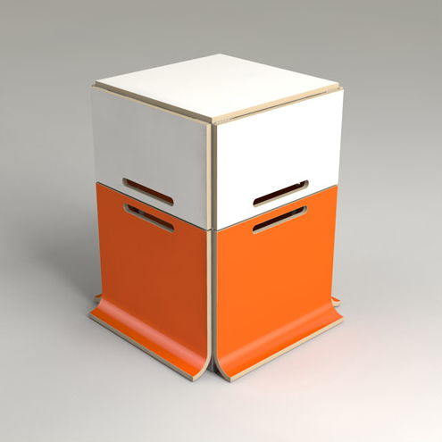Kids tafel en stoelen pakket compact opgeborgen offi pakket