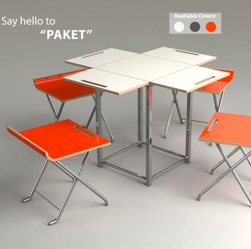 Kids tafel en stoelen uitgeklapte tafel