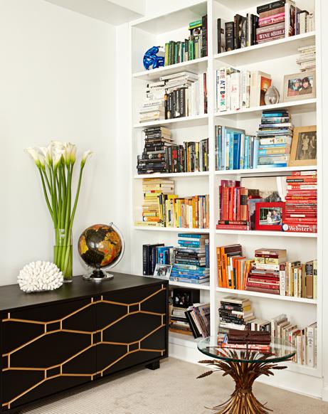 N-Y loft SPI Design boekenkast boeken op kleur
