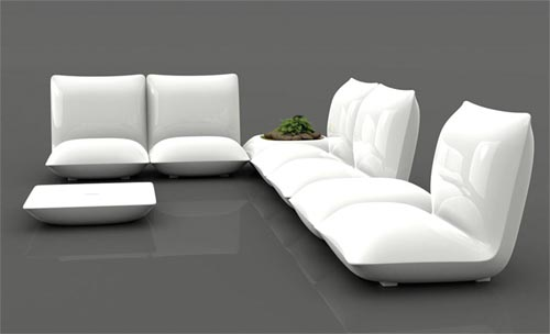 Pillow tuinmeubelen serie van ontwerper Stefano Giovanni voor Vondom