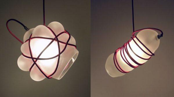Bound hanglamp van glasblazer Andrew O. Hughes 1