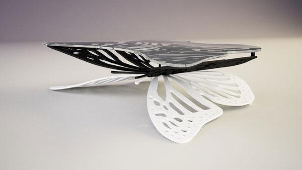 Vlinder koffietafel van ontwerper Svilen Gamolov
