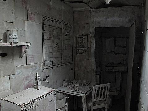 Appartement van papier Don Lucho eethoek