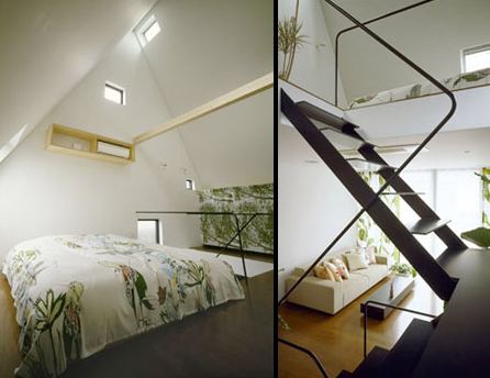 Driehoeks huis Kawasaki stad slaapkamer