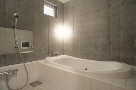 Driehoekshuis Kawasaki Japan badkamer