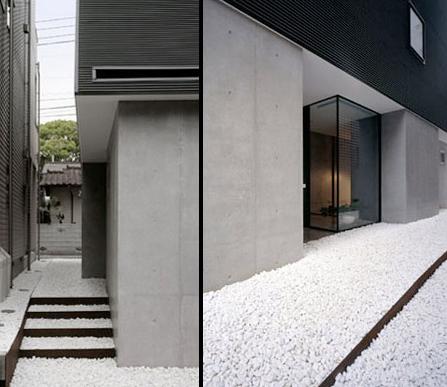 Driehoekshuis Kawasaki Japan witte keizelstenen