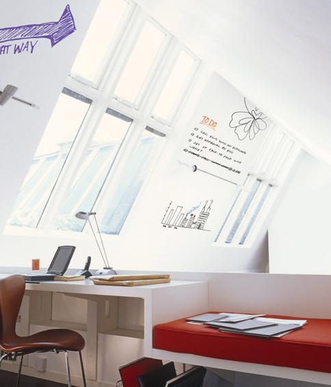 IdeaPaint verf op muur voor to do lijst