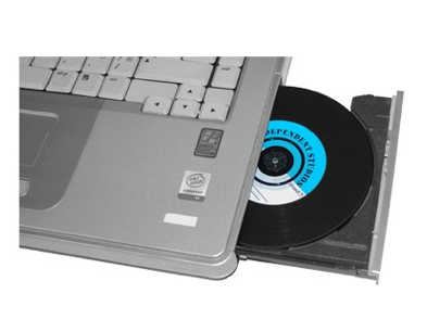 LP - CD vinyl cd gaat gewoon in je laptop