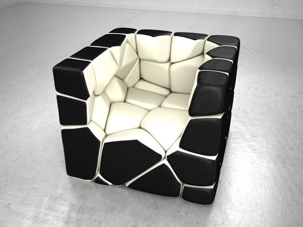 Vuzzle Chair van ontwerper Christopher Daniel
