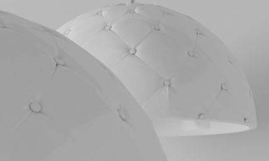 Gestoffeerde Chesterfield hanglamp