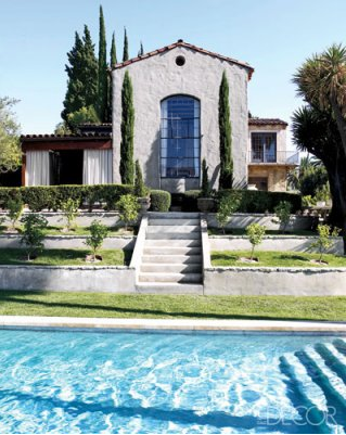 Ellen Pompeo´s huis, tuin en zwembad