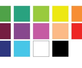 Fold out pallets colours