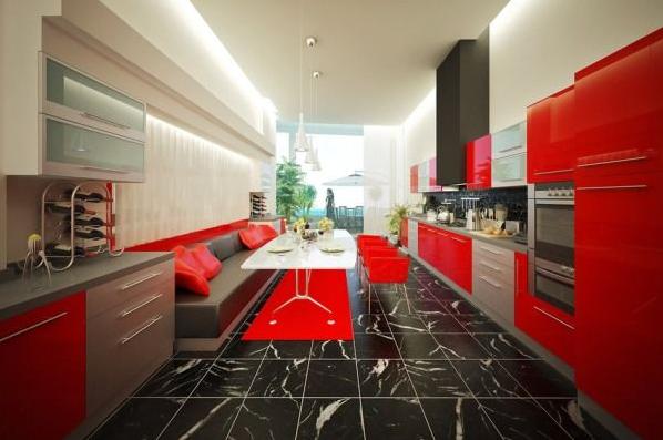 Keuken inspiratie rood