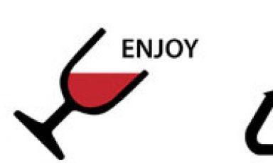 Gevuld wegwerp wijnglas
